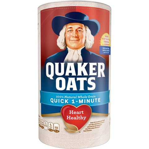 QUAKER QUICK OATS CANISTER 18 OZ
