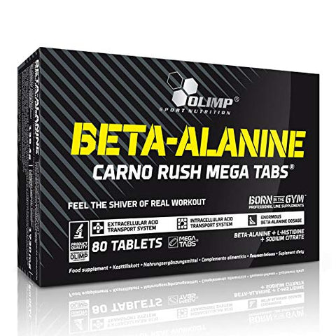 BETA-Alanine - Pre-Workout Booster - Food Supplement - Endurance - Energy and Power - Advanced Performance (80 Tablets)
