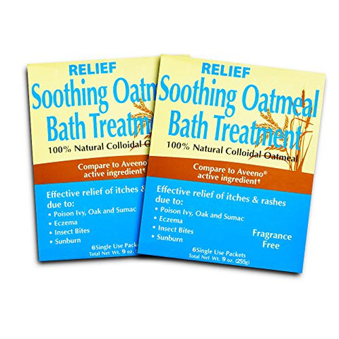 Relief MD Soothing Colloidal Oatmeal Bath Treatment - 12 Single Use Packets (12)