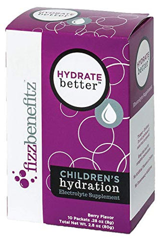 Hydrate Better- Effervescent Electrolyte Powder for Children & Adults, Berry Flavor, All Natural (30)