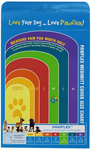PawFlex Bandages Medimitt 10 Bandage Cover for Pets, Medium, White