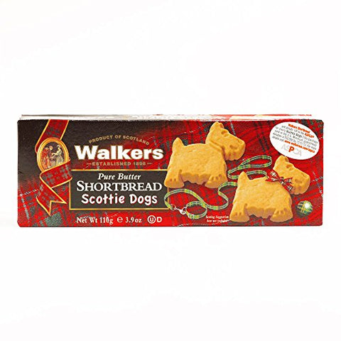 Walkers Shortbread Scottie Dogs 3.9 oz each (5 Items Per Order, not per case)