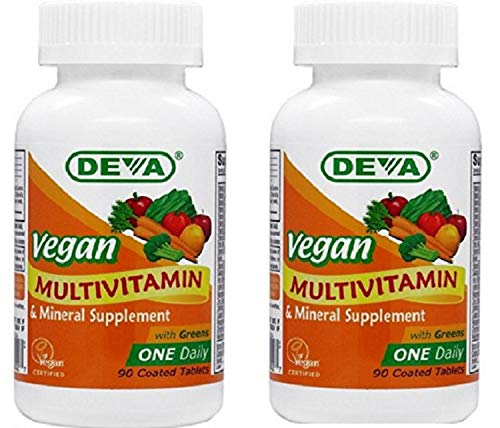Deva Vegan Multivitamin & Mineral Supplement One Daily Tablets, 90 Count (2 Pack)