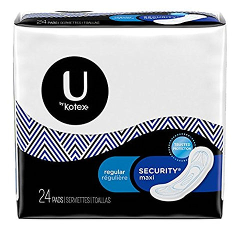 Kotex U Reg Sect Maxi 24c Size 24ct U By Kotex Regular Security Maxi 24ct