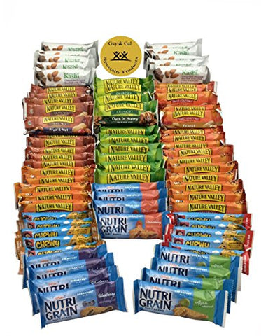 Healthy Bar Snack Mix - Sweet and Salty Granola Bar Variety Pack - Nature Valley, Kashi, Quaker - 72 Bar Bundle