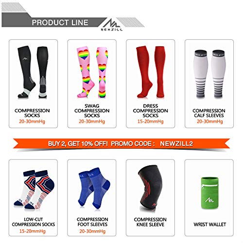 NEWZILL Compression Socks (20-30mmHg) for Men & Women, BEST Graduated Athletic Fit for Running, Nurses, Shin Splints, Flight Travel & Pregnancy. Boost Stamina Circulation (Pink Hearts, Small)