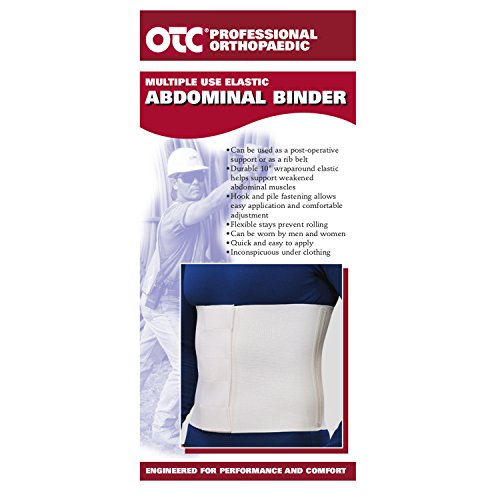 OTC Abdominal Binder, 10-Inch Chest and Rib Panel, Elastic, Small