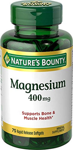 Nature's Bounty Magnesium 400 mg, 75 Softgels