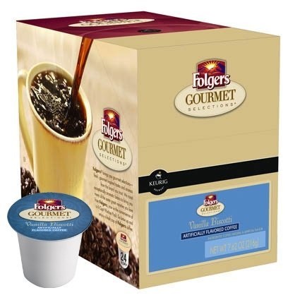 Folgers Gourmet Selections Vanilla Biscotti Coffee K-Cups,pack of three