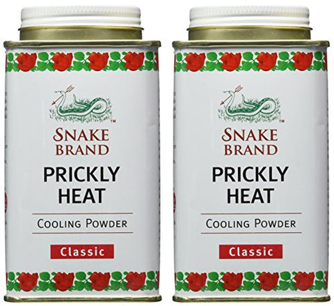 Snake Brand Prickly Heat Cooling Powder, 2 Pack (Classic, 150g)
