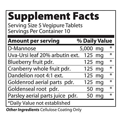 Vibrant Health - U.T. Vibrance, Crisis Intervention Formula to Support Urinary Tract Health with D-Mannose, Cranberry, and Dandelion Root, Gluten Free, Vegetarian, Non-GMO, 50 Count (FFP)