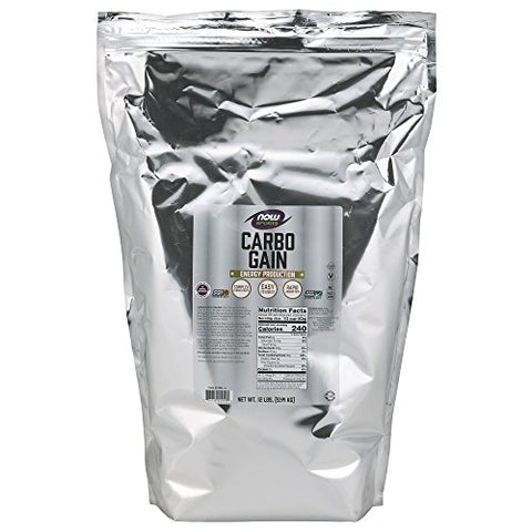 NOW Sports Nutrition, Carbo Gain Powder (Maltodextrin), Rapid Absorption, Energy Production, 12-Pound
