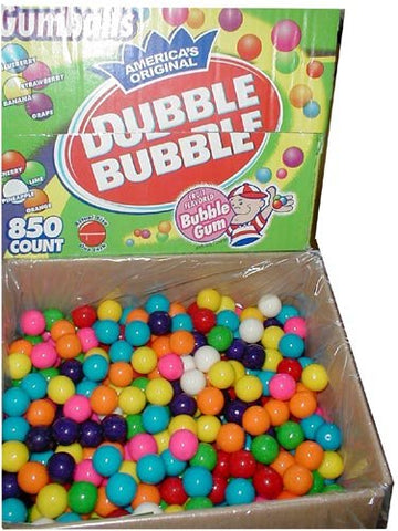Dubble Bubble one inch gumballs (850 Count)