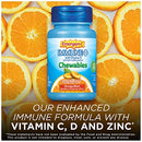 Image of Emergen-C Immune+ Chewables Vitamin C 1000mg With Vitamin D Tablet (42 Count, Orange Blast Flavor) Immune Support Dietary Supplement