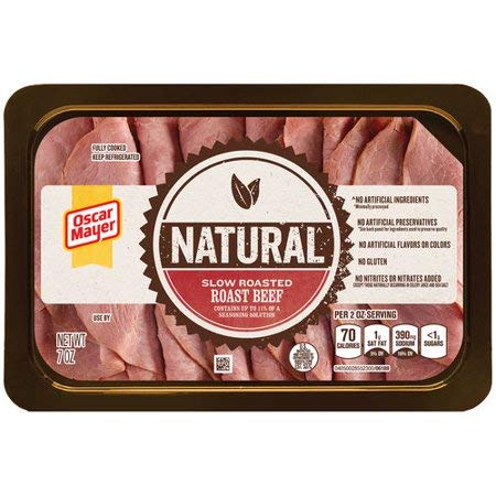 OSCAR MAYER NATURAL LUNCH MEAT COLD CUTS SLOW ROASTED ROAST BEEF 7 OZ PACK OF 3