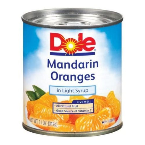 Dole Mandarin Oranges in Light Syrup, 11 Ounce -- 12 per case.