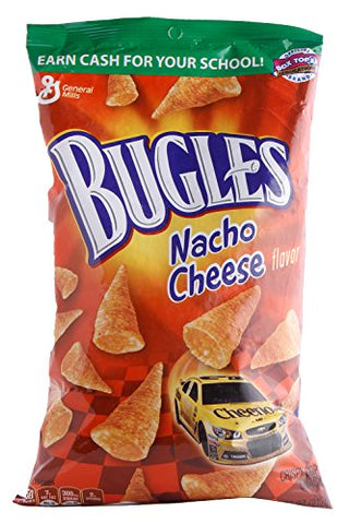 Bugles Corn Snack, Nacho Cheese, 7.5-Ounce Bags (Pack of 12)