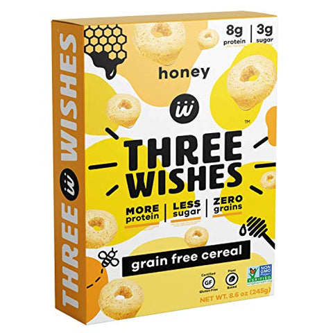 Three Wishes, Cereal Grain Free Honey, 8.6 Ounce