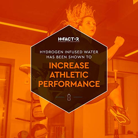 H Factor Flavored Hydrogen Water - Pure Infused Drinking Water - Natural Pre Or Post Workout Recovery, Molecular Hydrogen Supports Athletic Performance, Delivers Antioxidants (Blood Orange, 12 Count)