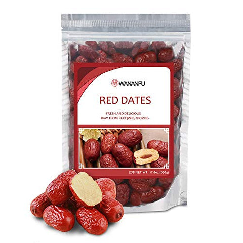Big Jujube Dates Dried from Ruoqiang 100% Natural No Sugar Added Red Jujube Dates Super Food Snacks ?? 17.6oz