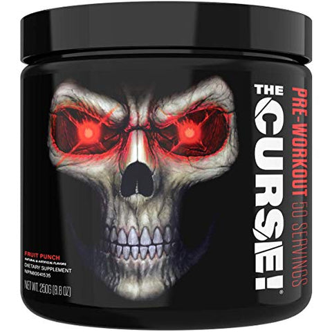 JNX Sports The Curse! Pre Workout Supplement - Intense Energy & Focus, Instant Strength Gains, Enhanced Blood Flow - Nitric Oxide Booster with Creatine & Caffeine - Men & Women | Fruit Punch | 50 SRV