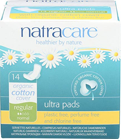 Natracare, Pads with Wings Ultra, 14 Count