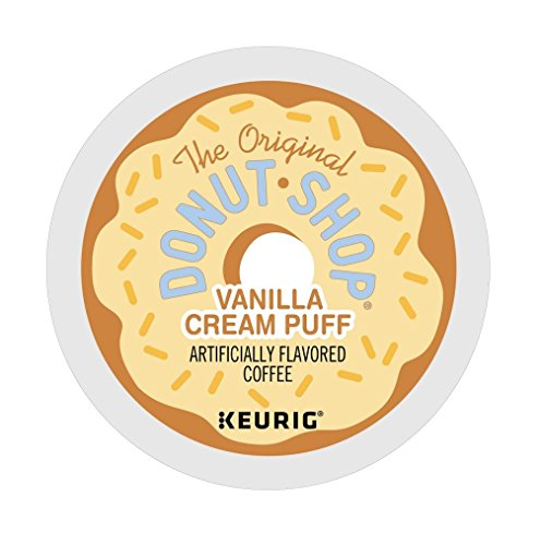 Donut Shop Vanilla Cream Puff Coffee Keurig K-Cups, 72 Count