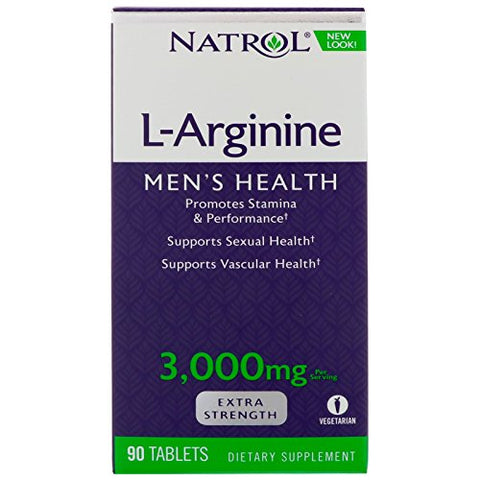 L-Arginine 3000Mg by Natrol - 90 Tab, 2 Pack