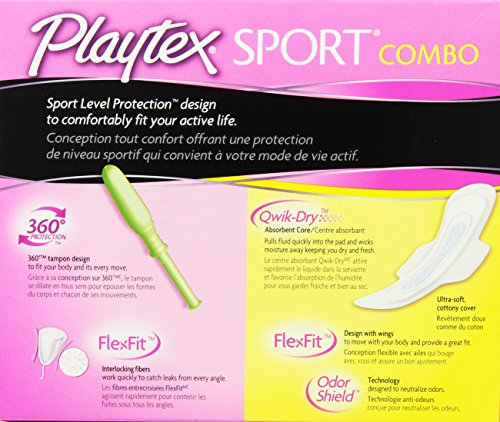 Playtex Sport Combo Pack with Regular and Super Tampons and Ultra Thin Pads with Wings - 32 Count