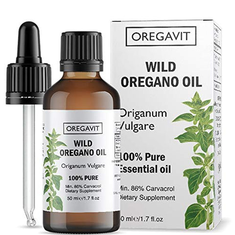 100% Pure Wild Greek Oregano Oil Food Grade Quality. Certified. (1.7 FL.OZ/50ML)