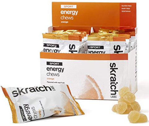 SKRATCH LABS Sport Energy Chews, Orange (10 Pack) - Developed for Athletes and Sports Performance, Gluten Free, Dairy Free, Vegan