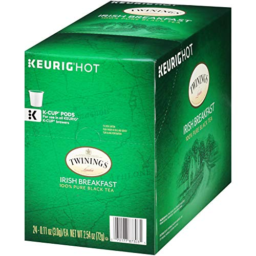 Twinings of London Irish Breakfast Tea K-Cups for Keurig, 24 Count
