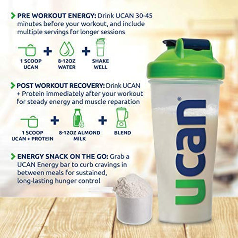 UCAN Energy Protein Powder - Pre & Post Workout, Recovery, No Added Sugar, Gluten Free, Keto Friendly, SuperStarch (Cookies & Cream) - 20 Servings