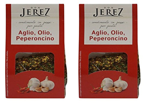 Don Jerez: Garlic, Oil, Chili gr.50, Spices for Hot Pasta - Pack of 2 [ Italian Import ]
