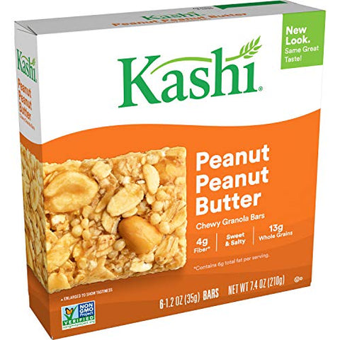 Kashi, Chewy Granola Bars Variety Pack, Chocolate Almond Sea Salt, Honey Almond Flax, Trail Mix, Peanut Peanut Butter (24 Count)