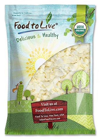 Organic Coconut Chips, 16 Pounds - Non-GMO, Kosher, Raw, Desiccated, Unsweetened, Unsulfured, Dried Flakes, Vegan, Keto, Bulk, Great for Baking