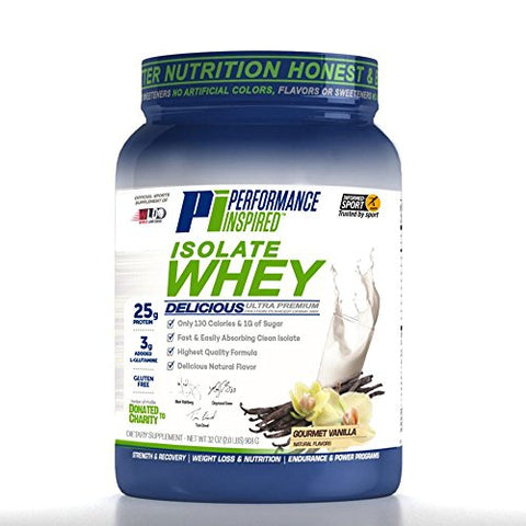 Performance Inspired Nutrition Isolate Whey Protein, 2 lb, Gourmet Vanilla - Sytle #: ISOVAN