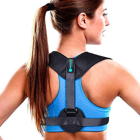 Posture Corrector and Trainer by Miramama - Posture Brace for Upper Back Pain Relief - Adjustable Back Straightener - Invisible Posture Support for Everyday Use for Women, Men and Kids