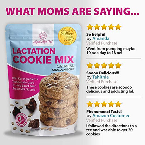 Lactation Cookies Mix for Breastfeeding - Two Flavor Bundle Includes Two 16 oz Bags - One 16 oz Bag of Oatmeal Chocolate Chip & One 16 oz Bag of Rainbow Candy With Real MM's