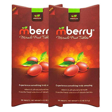 mberry Miracle Fruit Tablets, 10-Count (Pack of 2)