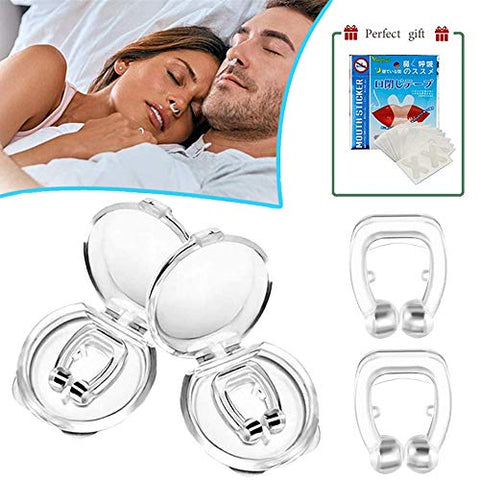 Latest Anti snoring Device Silicone Magnetic Anti Snore Nose Clipple Effective-Easy Stop Snoring Solution Professional Sleeping Aid Relieve Snore for Men Women (2 Pack)