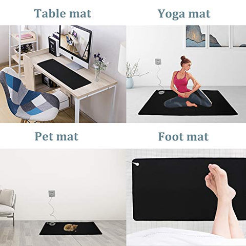 Grounding Mat,Universal Grounding Mat with Grounding Cord,Grounded Therapy,Conductive Leather Mat.