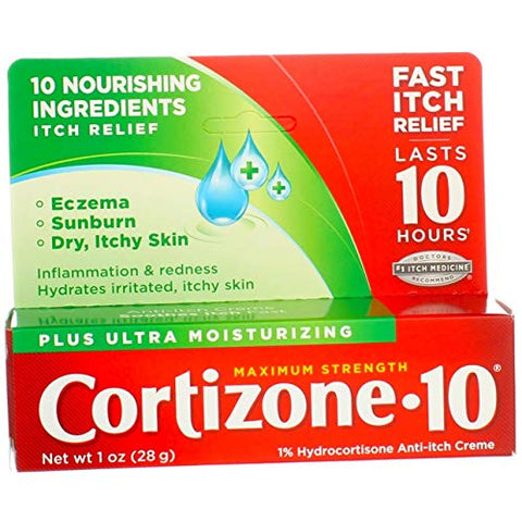 Cortizone 10 Plus Cream Size 1z Cortizone 10 Plus Maximum Strength Anti-Itch Cream
