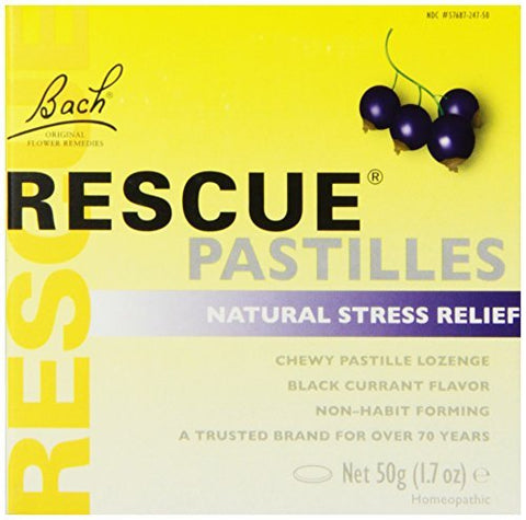 Bach Rescue Pastilles Natural Stress Relief, Black Currant, 1.7 oz by Bach