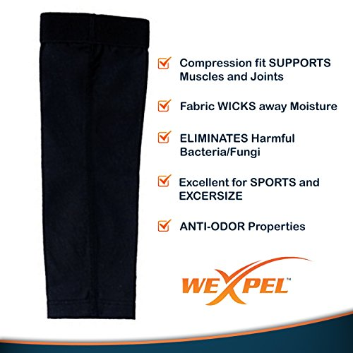 Wexpel Copper Infused Compression Elbow Sleeve â?? Relieve And Heal Stiff, Strained, Sore And Aching
