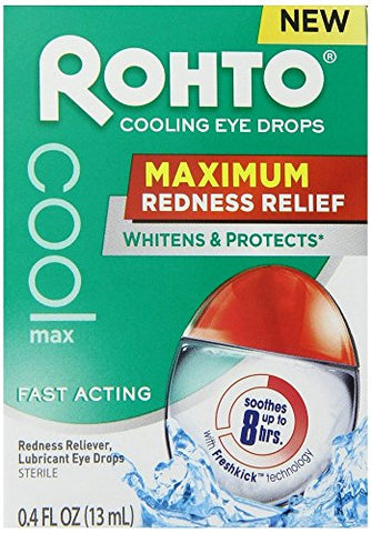 Rohto Maximum Redness Relief Cooling Eye Drops (Pack of 4)