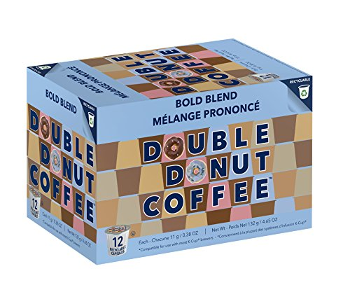 Double Donut Bold Blend Fresh Bold Roast Coffee Single Serve Pods For Keurig K Cup Brewer Machines 96