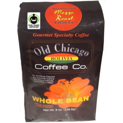 Fair Trade Certified Bolivian Roasted Coffee Beans - Old Chicago Mezzo