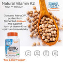 Image of Doctor's Best Natural Vitamin K2 MK-7 with MenaQ7, Non-GMO, Vegan, Gluten Free, Soy Free, 45 mcg 60 Veggie Caps