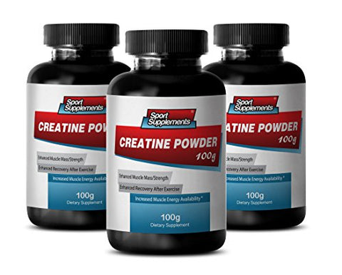Creatine Free Preworkout - Creatine Powder 100mg - Increase Muscle Mass with Creatine Powder (3 Bottles)